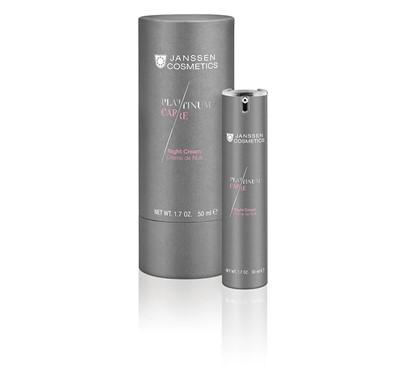 Anti ageing platinum night facial moisturiser
