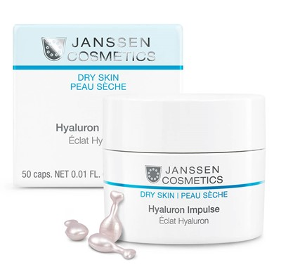Hydrating capsules for dry skin